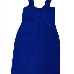 whoinshop Dresses - Bandage blue dress